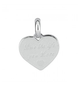 charm tres jolie mini in acciaio con live the life you love