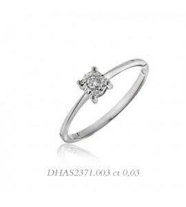 Anello donna gioielli Donnaoro linea Stelle in oro 18 kt e diamante ct 0,3 DHAS2371.003