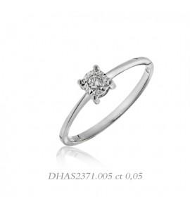 Anello donna gioielli Donnaoro linea Stelle in oro 18 kt e diamante ct 0,5 DHAS2371.005