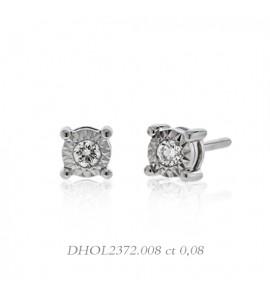 Orecchini donna gioielli Donnaoro linea Stelle in oro 18 kt e diamanti ct 0,08 DHOL2372.008