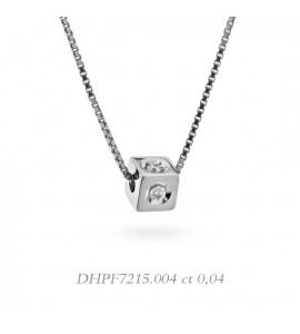 Collana donna gioielli Donnaoro linea Dadi in oro 18 kt con Diamanti ct 0,04 DHPF7215.004