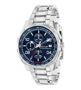Orologio cronografo uomo Sector 890 cassa in acciaio 44 mm quadrante blu R3273803002