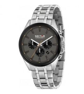 Orologio cronografo uomo Sector 280 cassa in acciaio 44 mm quadrante nero R3273991003