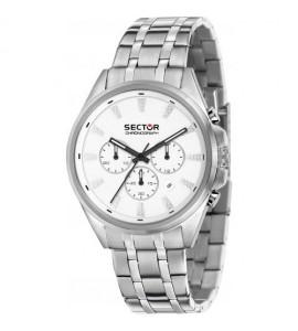 Orologio cronografo uomo Sector 280 cassa in acciaio 44 mm quadrante silver R3273991005