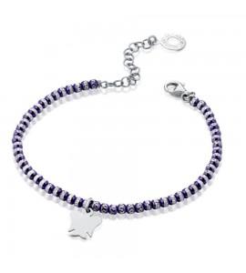 Bracciale donna gioielli Roberto Giannotti Angelo Custode in argento e sfere violet gia351