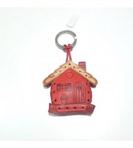 Portachiavi Keychain in cuoio La Cuoieria Made in Italy Casa p367