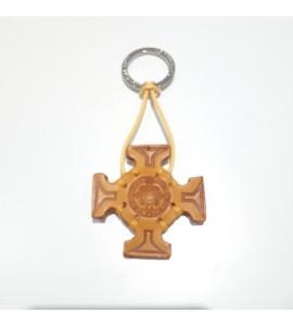 Portachiavi Keychain in cuoio La Cuoieria Made in Italy Croce p322