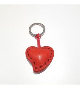 Portachiavi Keychain in cuoio La Cuoieria Made in Italy Cuore p278