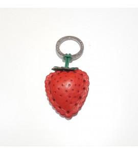 Portachiavi Keychain in cuoio La Cuoieria Made in Italy Fragola p337