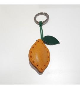 Portachiavi Keychain in cuoio La Cuoieria Made in Italy Limone p358