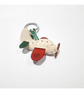 Portachiavi Keychain in cuoio La Cuoieria Made in Italy Aereoplanino p360