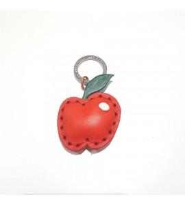 Portachiavi Keychain in cuoio La Cuoieria Made in Italy Mela p346