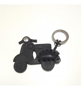 Portachiavi Keychain in cuoio La Cuoieria Made in Italy Moto Vespa Scooter p352