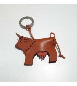 Portachiavi Keychain in cuoio La Cuoieria Made in Italy Mucca p304