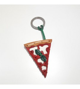 Portachiavi Keychain in cuoio La Cuoieria Made in Italy Pizza p366