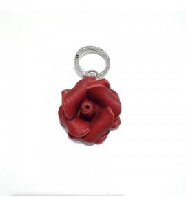 Portachiavi Keychain in cuoio La Cuoieria Made in Italy Rosa p342