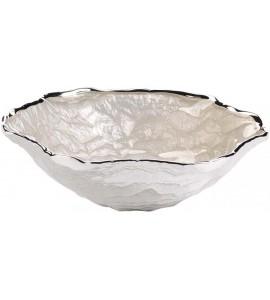 Ciotola in vetro Dublino 15,5 cm h.5 cm - Bianco Perla 3.180014