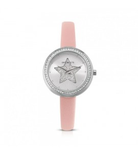 Orologio solo tempo donna Ops Objects Light Charme crystal similpelle lucida pink opspw-638