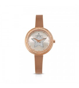 Orologio solo tempo donna Ops Objects Light Charme crystal maglia milanese pvd oro rosa silver opspw-635