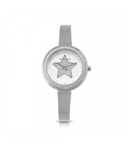 Orologio solo tempo donna Ops Objects Light Charme crystal maglia milanese silver opspw-633