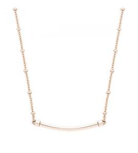 collana base per charm tres jolie in acciaio 316L e pvd oro rosa