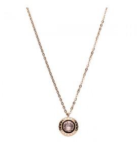collana magic in acciaio e pvd oro rosa con swarovski vintage rose e scritta today I choose me