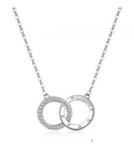 collana romeo & juliet acciaio 316L cristalli swarovski