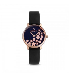 orologio opsobjects bold flower pelle black