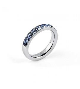 Anello donna gioielli Brosway Tring acciaio 316L cristalli swarovski light sapphire Sintonia btgc49d