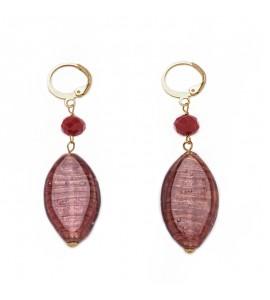 Orecchini donna gioielli Antica Murrina Gisele Rosso or641a11