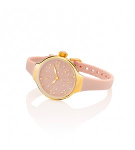 Orologio solo Tempo Donna Hoops Nouveau Cherie Gold Rose Beige 2639lg-03