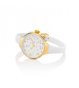 Orologio solo Tempo Donna Hoops Nouveau Cherie Gold Rose Bianco 2639lg-02