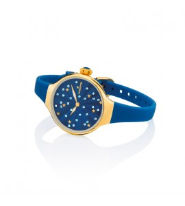 Orologio solo Tempo Donna Hoops Nouveau Cherie Gold Rose Blu 2639lg-04