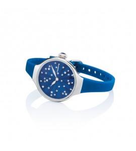 Orologio solo Tempo Donna Hoops Nouveau Cherie Silver Blu 2639l-04