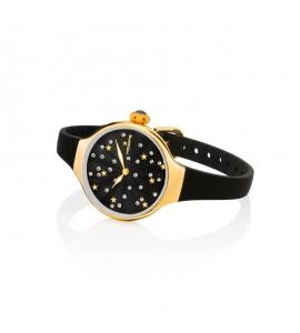 Orologio solo Tempo Donna Hoops Nouveau Cherie Gold Rose Nero 2639lg-01