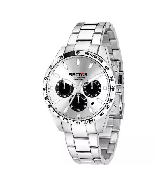 Orologio Cronografo Uomo Sector 245 cassa in acciaio 41 mm quadrante champagne r3273786007